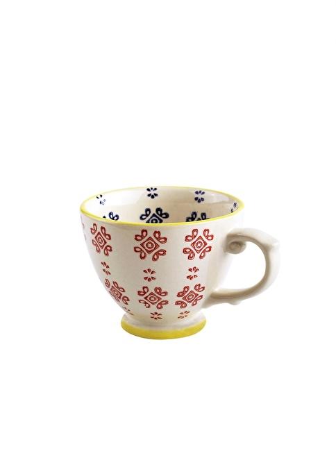 Dekorazon Standart Medina El Boyama Kahve Fincanı Renkli Morhipo